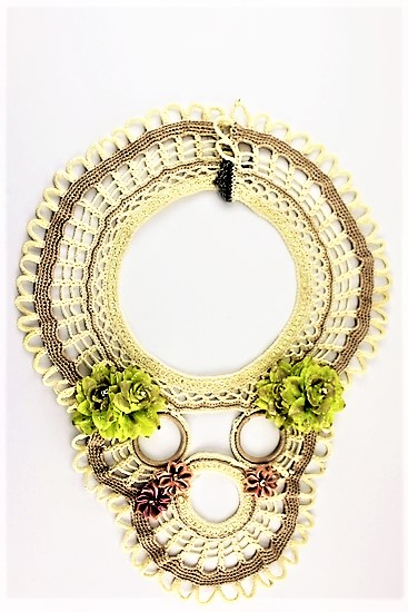 AUSTRALIAN HANDMADE CRAFT DRAMATIC AND GORGEOUS COLLAR NECKLACE 'THE EXTRAVAGANZA'
