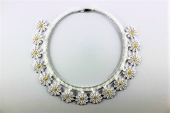 'Daisy-Crazy' Craft Collar Necklace