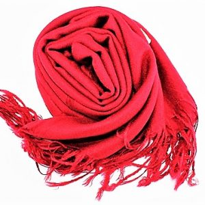 Beautiful Pashmina and Silk Scarves/Shawl Ruby Red