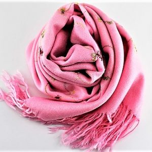 Beautiful Pashmina and Silk Embroidered Scarves/Shawls, Blush Pink
