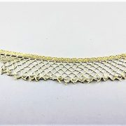 'CLASS & ETHEREAL'--AUSTRALIAN HANDMADE CRAFT COLLAR NECKLACE, Cream & Ivory