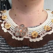 AUSTRALIAN HANDMADE CRAFT COLLAR NECKLACE -- 'CAVALRY NECK-PIECE