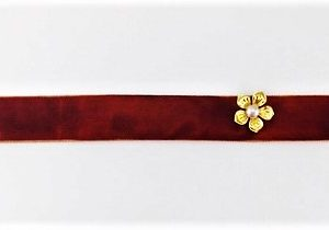 GOLDEN TIMES CHOKER NECKLACE, BROWN