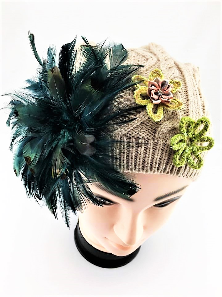 Tria Hand Decorated Beanie 1giftworld