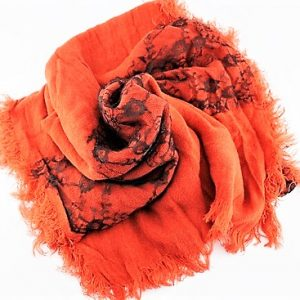 SOFT WOOL & LACE ORANGE SHAWLS