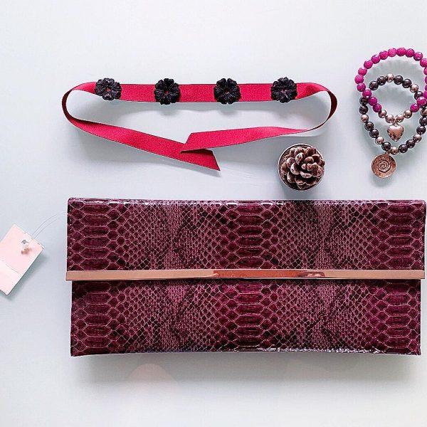 Handmade Choker Recycled Necklace & Semi-Precious Bracelets, & Small Purse (Silver & Purple)