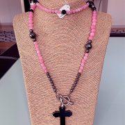 Lariat Handmade Handmade Necklace & Pearl Bracelets - Silver, Pink