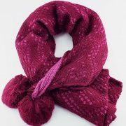 Woolen Warm XL Shawl Double Sided in Color-Purple