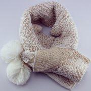 Woolen Warm XL Shawl Double Sided in Color-Beige