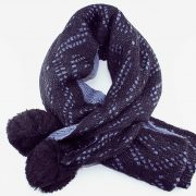 Woolen Warm XL Shawl Double Sided in Color-Blue