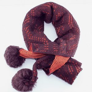 Woolen Warm XL Shawl Double Sided in Color-Brown