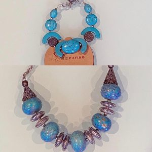 Adorable Natural Stones Set: 'Idaa' Necklace & Bracelet