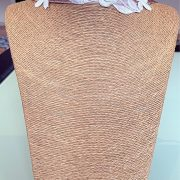 Recycled Craft 'Serene' Necklace, Semi-Precious Bracelets & Matching Purse ( Beige Shades, Ivory & Pink Shades)