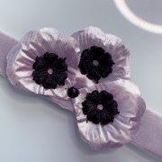 'Exquisita' Handmade Necklace, Semi-Precious Bracelets & Matching Purse (Black, Silver)